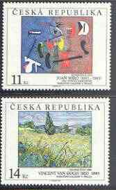 Czech Republic 1993 Art - 1st issue perf set of 2 unmounted mint, SG 33-34