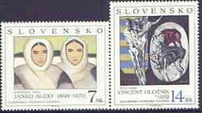 Slovakia 1994 Art (2nd issue) perf set of 2 unmounted mint, SG 198-99