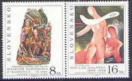 Slovakia 1995 Art (3rd issue) perf set of 2 unmounted mint, SG 227-28
