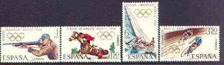 Spain 1968 Mexico Olympic Games perf set of 4 unmounted mint, SG 1943-46