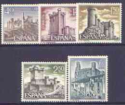 Spain 1968 Spanish Castles (3rd issue) perf set of 5 unmounted mint, SG 1938-42