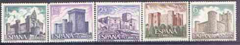 Spain 1969 Spanish Castles (4th issue) perf set of 5 unmounted mint, SG 1985-89