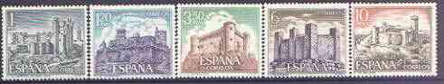 Spain 1970 Spanish Castles (5th issue) perf set of 5 unmounted mint, SG 2035-39