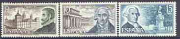 Spain 1973 Spanish Architects (1st issue) perf set of 3 unmounted mint, SG 2175-77