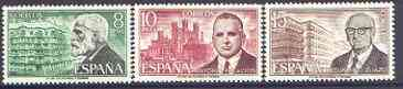 Spain 1975 Spanish Architects (2nd issue) perf set of 3 unmounted mint, SG 2295-97