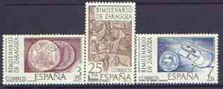 Spain 1976 Zaragoza Anniversary perf set of 3 unmounted mint, SG 2364-66