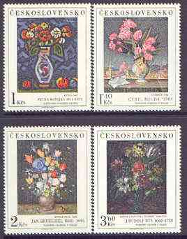 Czechoslovakia 1976 'Praga 78' Stamp Exhibition (2nd issue - Art 11th issue - Paintings of Flowers) perf set of 4 unmounted mint, SG 2313-16