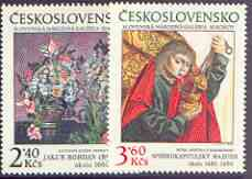 Czechoslovakia 1978 Slovak National Gallery perf set of 3 unmounted mint, SG 2437-39
