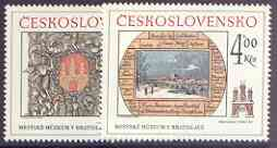Czechoslovakia 1984 Historic Bratislavia (8th issue) set of 2 unmounted mint, SG 2736-37