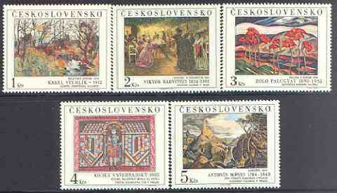 Czechoslovakia 1984 Art (18th issue) set of 5 unmounted mint, SG 2757-61