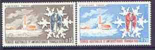 French Southern & Antarctic Territories 1984 Glaciology perf set of 2 unmounted mint, SG 182-83