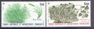 French Southern & Antarctic Territories 1987 Plants perf set of 2 unmounted mint, SG 221-22