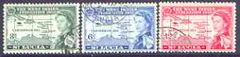 St Lucia 1958 British Caribbean Federation set of 3 fine used, SG 185-87