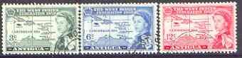 Antigua 1958 British Caribbean Federation set of 3 fine used, SG 135-37
