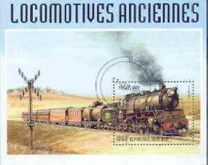 Togo 1999 Early Railways 1,000f m/sheet cto used