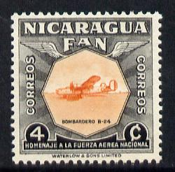 Nicaragua 1954 National Air Force Commemoration - 4c B-24 Bomber unmounted mint SG 1212