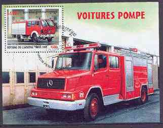 Cambodia 2000 Fire Engines perf m/sheet cto used SG MS 2048
