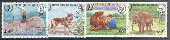 Niger Republic 1985 International Youth Year - Animals in Literature perf set of 4 fine used, SG 1030-33