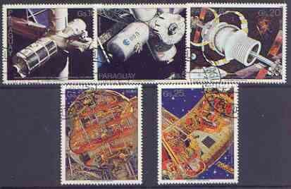 Paraguay 1988 Space perf set of 5 fine used