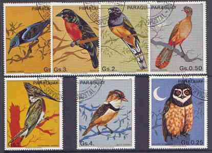 Paraguay 1983 Birds perf set of 7 fine used