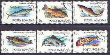 Rumania 1992 Fish perf set of 6 fine cto used, SG 5424-29*