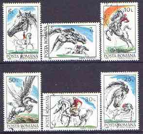 Rumania 1992 Horses perf set of 6 fine cto used, Mi  4784-89, SG 5432-37*