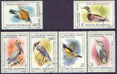 Rumania 1985 John Audubon Birds set of 6 fine cto used, SG 4936-41, Mi 4149-54*
