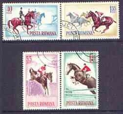 Rumania 1964 Horsemanship set of 4 cto used, Mi 2276-79, SG 3142-45*