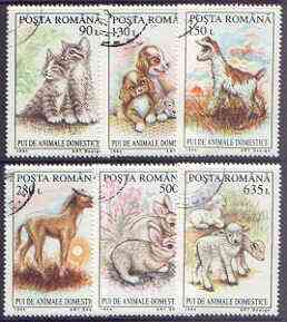 Rumania 1994 Young Domestic Animals perf set of 6 fine cto used, SG 5678-83*