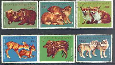 Rumania 1972 Young Wild Animals set of 6 fine cto used, SG 3885-90, Mi 3005-10*