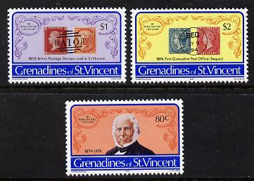 St Vincent - Grenadines 1979 Rowland Hill set of 3 unmounted mint (SG 152-54)