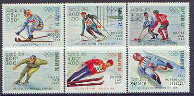 Laos 1983 Sarajevo Winter Olympics (1st issue) perf set of 6 unmounted mint, SG 660-65