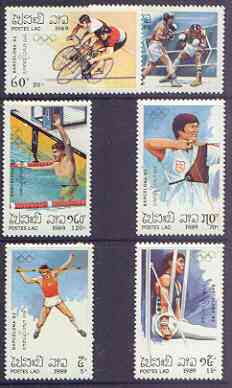 Laos 1989 Barcelona Olympics (1st issue) perf set of 6 unmounted mint, SG 1141-46