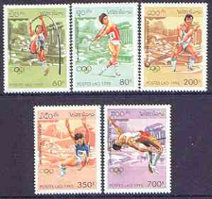 Laos 1995 Atlanta Olympic Games (1st issue) perf set of 5 unmounted mint, SG 1441-45