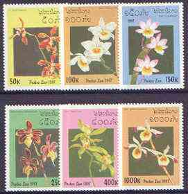 Laos 1997 Orchids complete set of 6 values unmounted mint, SG 1563-68