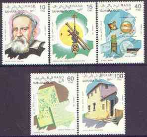 Sahara Republic 1992 350th Anniversary of Galileo perf set of 5 unmounted mint
