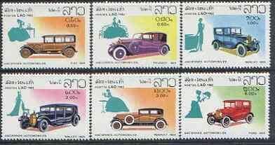 Laos 1982 Classic Cars perf set of 6 unmounted mint, SG 599-604