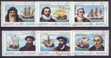Bulgaria 1989 Navigators & Their Ships perf set of 6 cto used, SG 3664-69, Mi 3814-19*