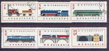 Bulgaria 1964 Railway Transport perf set of 6 cto used, SG 1449-54*