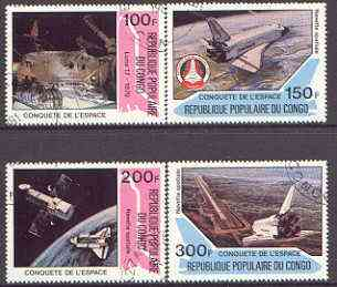 Congo 1981 Conquest of Space perf set of 4 cto used, SG 796-99