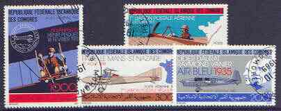 Comoro Islands 1987 Aviation perf set of 4 cto used, SG 624-27*