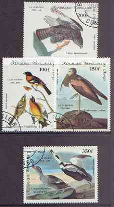 Congo 1985 Birth Bicentenmary of John Audubon (Birds) perf set of 4 cto used, SG 985-88*