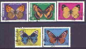 Djibouti 1984 Butterflies perf set of 5 cto used, SG 898-902