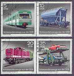 Germany - East 1979 Locomotives & Wagons perf set of 4 fine used, SG E2124-27*