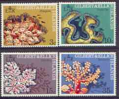 Gilbert & Ellice Islands 1972 Coral perf set of 4 unmounted mint, SG 199-202*