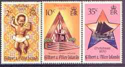 Gilbert & Ellice Islands 1970 Christmas - Sketches perf set of 3 unmounted mint, SG 170-72*