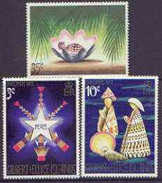 Gilbert & Ellice Islands 1972 Christmas (Shells) perf set of 3 unmounted mint, SG 208-10*