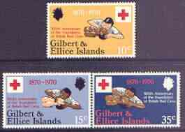 Gilbert & Ellice Islands 1970 Centenary of Red Cross perf set of 3 unmounted mint, SG 159-61*