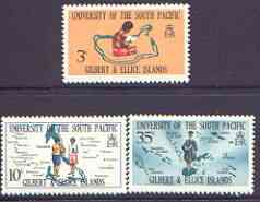 Gilbert & Ellice Islands 1969 South Pacific University perf set of 3 unmounted mint, SG 154-56*