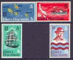 Gilbert & Ellice Islands 1970 Centenary of Landing by London Missionary Society perf set of 4 unmounted mint, SG 166-69